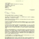 Letter to the Minister