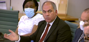 Bambos speaking during the evidence session of the Bill Committee