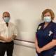 Bambos visiting Chase Farm Hospital