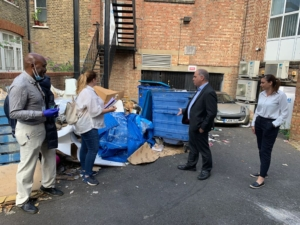Fly tipping in Palmers green