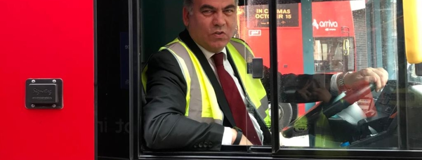 Bambos on a London bus